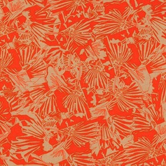 Gleaned by Carolyn Friedlander - Fat Quarter- Lizard Border in Tangerine