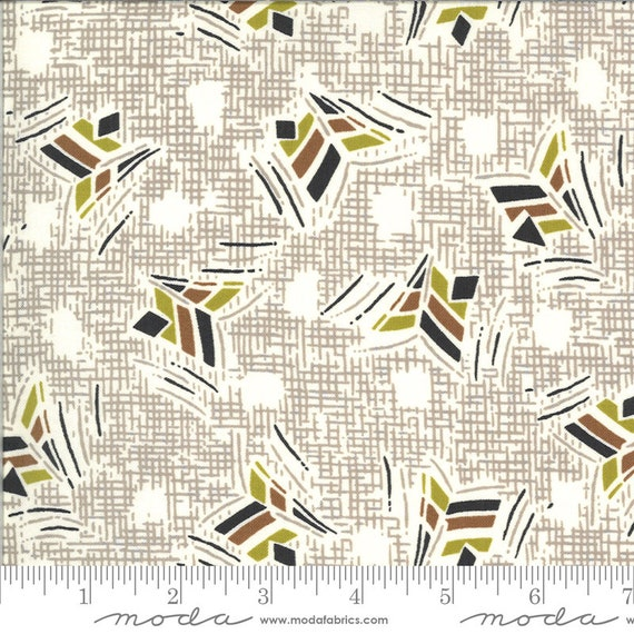 Moda Winkipop by Jen Kingwell -- Fat Quarter of 18192 15 Nara in Stone