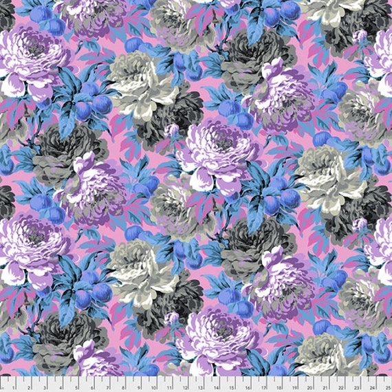 Kaffe Fassett Collective February 2020 -- Fat Quarter of Philip Jacobs Luscious in Grey