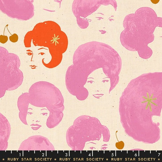 Darlings -- Bouffant Metallic in Pink (RS5012-14M) by Ruby Star Society for Moda -- Fat Quarter