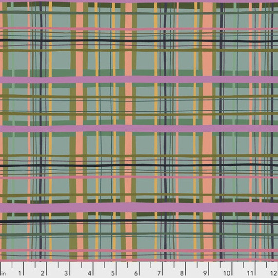 New Vintage by Kathy Doughty for Free Spirit Fabrics - Fat quarter of Plaid in Tiffany