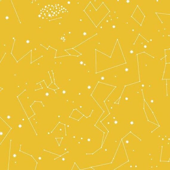 Andover Constellations 2019  by Lizzy House- Fat Quarter in Yellow (A-8182-Y)