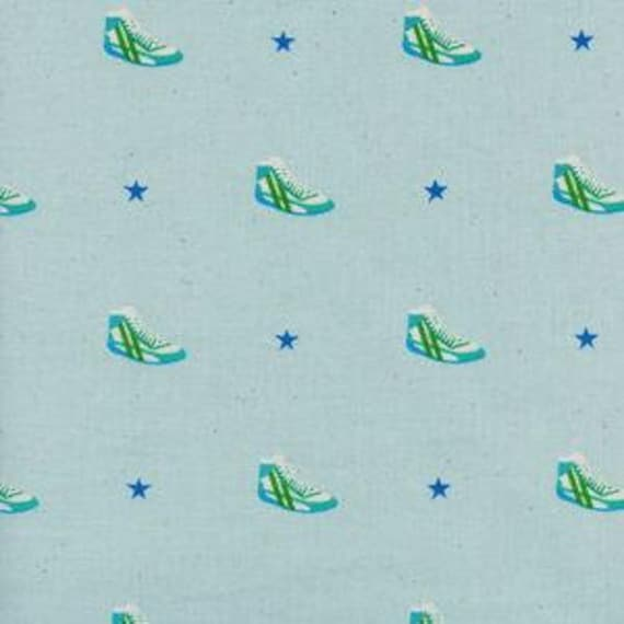 Kicks -- Little Kicks in Aqua by Melody Miller for Cotton and Steel