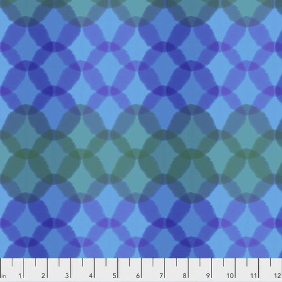 Long Distance by Courtney Cerruti for Anna Maria Horner Conservatory with Free Spirit Fabrics - Fat Quarter of Bokeh in Marine
