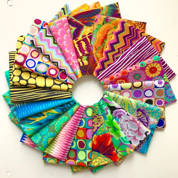 Dayglow by Kaffe Fassett Collective for Free Spirit Fabrics - Fat Quarter Bundle of 20