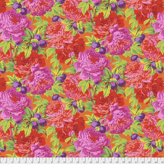 Kaffe Fassett Collective February 2020 -- Fat Quarter of Philip Jacobs Luscious in Pink