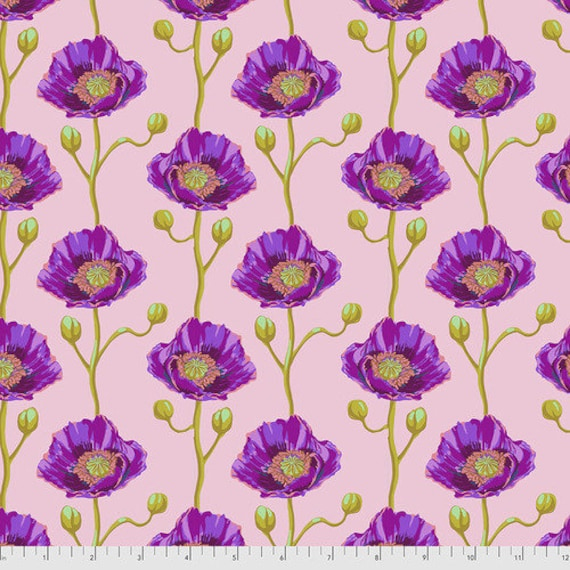 Bright Eyes by Anna Maria Horner Fabrics for Free Spirit Fabrics - Fat quarter of Cheering Section in Blush
