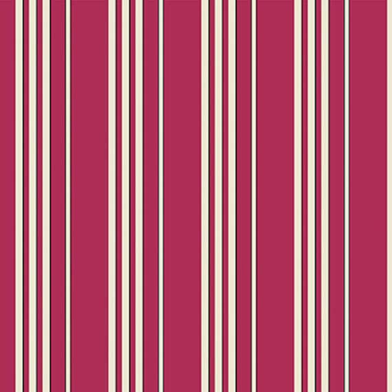 Washington Depot by Denyse Schmidt for Free Spirit Fabrics -  Shadow Stripe in Wild Rose