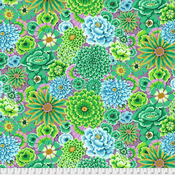 Kaffe Fassett Collective Fall 2018 -- Fat Quarter of Kaffe Fassett Enchanted in Green