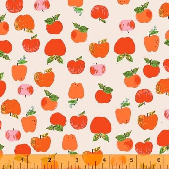 Heather Ross 20th Anniversary Collection for Windham Fabrics - Fat Quarter of Apples in Red