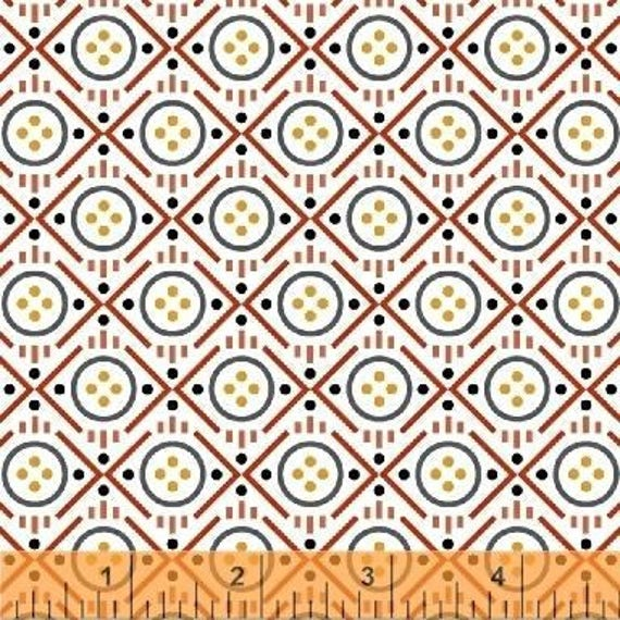 Uppercase Volume 2 by Janine Vangool for Windham Fabrics - Button in Red- Fat Quarter