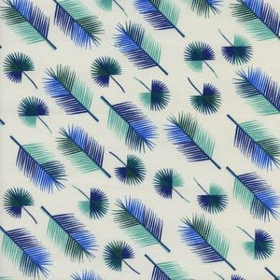 Lagoon -- Unbeleafable in Blue by Rashida Coleman Hale for Cotton and Steel