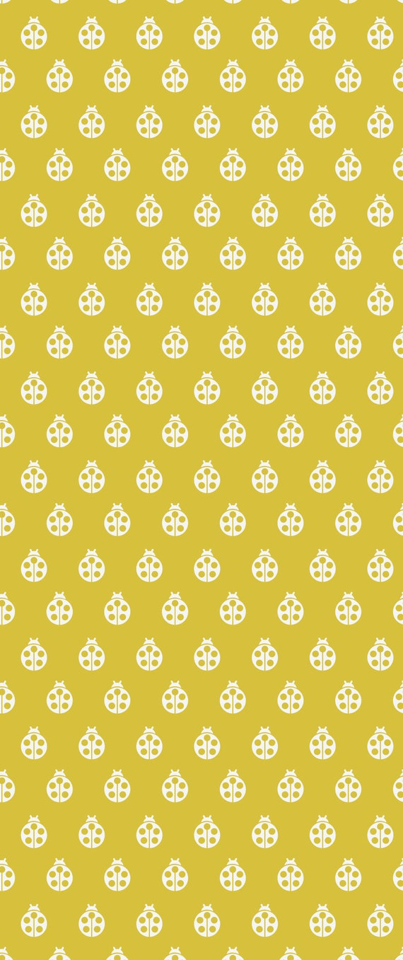 Fat Quarter Lady Bug in Mustard - Tula Pink's True Colors 2015 for Free Spirit Fabrics