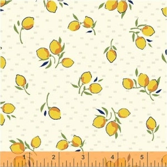 Hello Jane by Allison Harris for Windham Fabrics - Blossom in Yellow - Fat Quarter