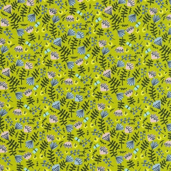 Robert Kaufman -      AIL-19559-45 MOSS by Hello!Lucky from Wild and Free - Fat Quarter