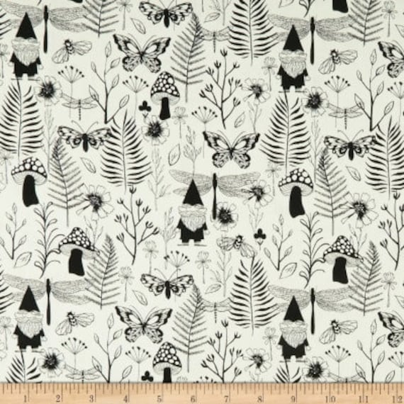 Front Yard -- Garden in Black by Sarah Watts for Cotton and Steel