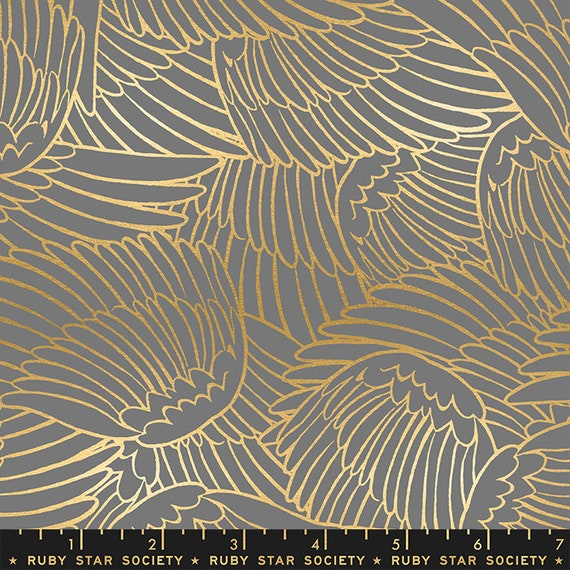 Florida Shade Wild Wings in Slate Grey RS2026 15M by Sarah Watts -Ruby Star Society - Fat Quarter