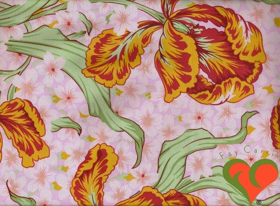 Kaffe Fassett Collective  -- Fat Quarter of Philip Jacobs PJ14 --- Tulip in Pink