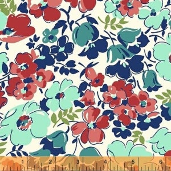 Hello Jane by Allison Harris for Windham Fabrics - Hello Jane in Red - Fat Quarter