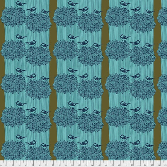 After the Rain by Bookhou for Anna Maria Horner Conservatory Chapter 3 with Free Spirit Fabrics - Fat Quarter of Birdseed in Royal