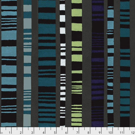 Keiko Goke's Step by Step for Free Spirit Fabrics -- Fat Quarter of Ladder to Happiness in Black