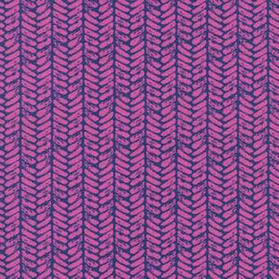 Fat Quarter Palm in Purple -- Honeymoon by Sara Watts for Cotton and Steel