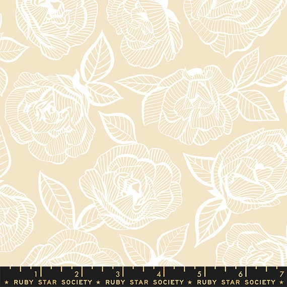 First Light Floral Lace in Parchment (RS049-11) by Ruby Star Society for Moda -- Fat Quarter