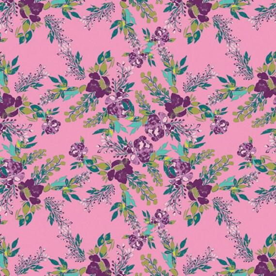 Virtuosa by Bari J. for Art Gallery Fabrics -  Fat Quarter of Episodic Blooms in Rosa