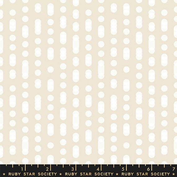 First Light Moonrise in Code in Buttercream  (RS052-11) by Ruby Star Society for Moda -- Fat Quarter