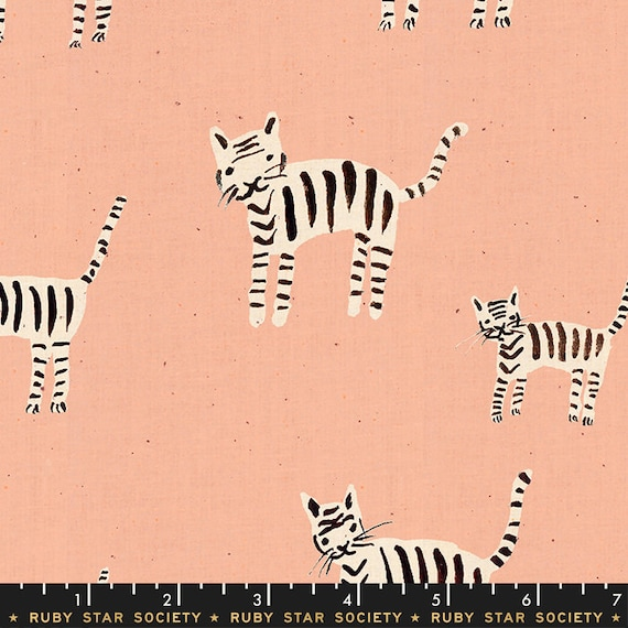 Darlings -- Tigers in Warm Pink (RS5021-16) by Ruby Star Society for Moda -- Fat Quarter