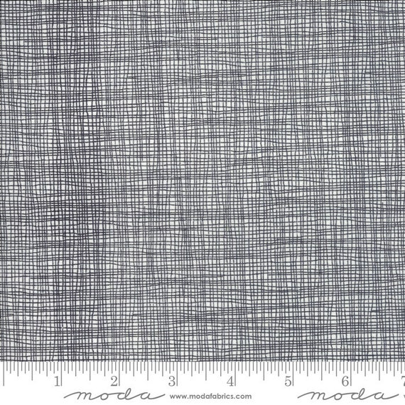 Day in Paris. -- Grid in Charcoal (1686 11) by Zen Chic for Moda -- Fat Quarter