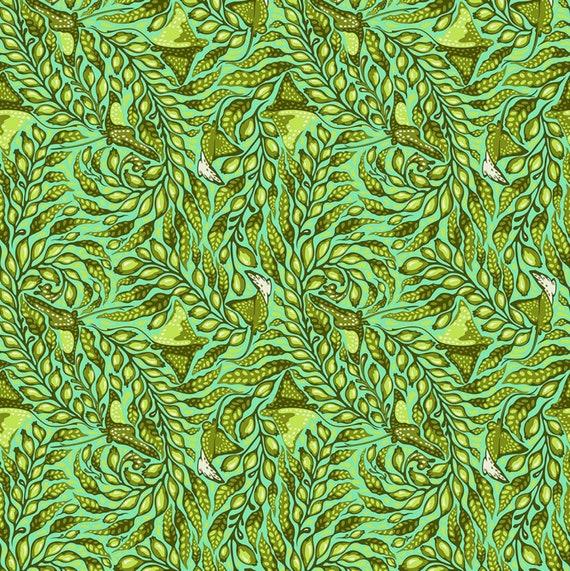 Fat Quarter Stingray in Seasglass  - Tula Pink's Zuma for Free Spirit Fabrics