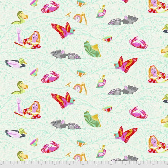 Fat Quarter Seas of Tears in Wonder - Tula Pink's Curiouser and Curiouser for Free Spirit Fabrics