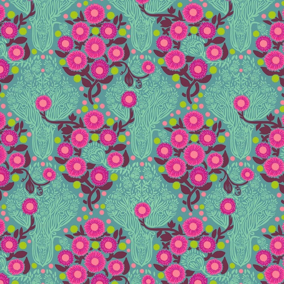 Passion Flower by Anna Horner for Free Spirit Fabrics - Imposter in Patina