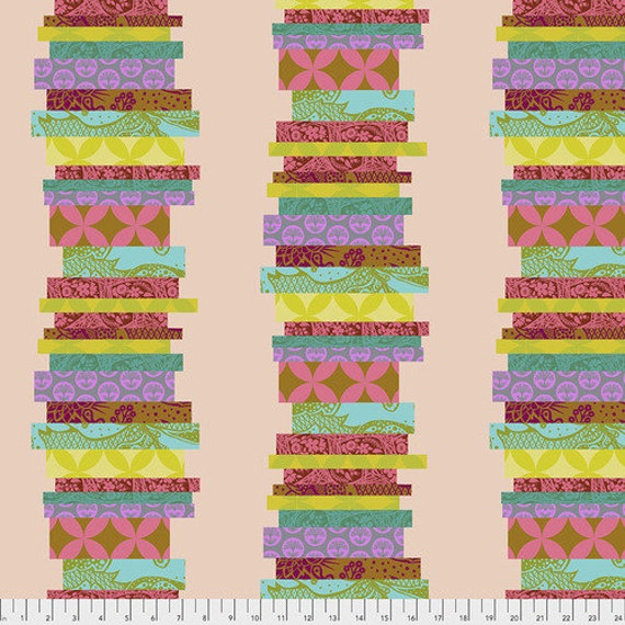 Hindsight by Anna Maria Horner for Free Spirit Fabrics- Fat Quarter of The Classics in Guava