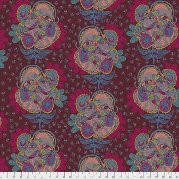 Tambourine by Anna Horner for Free Spirit Fabrics - Bird Watching in Spice