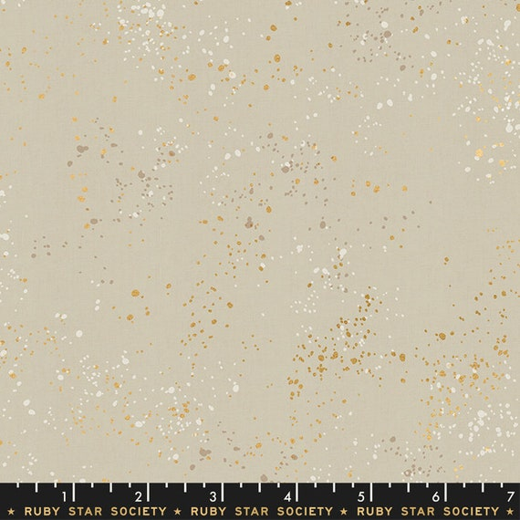 Speckled -- Metallic Natural (RS5027-18M) by Ruby Star Society for Moda -- Fat Quarter