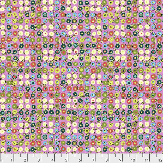 Amy Butler Natural Beauty -- Fat Quarter of Buttercups in Berry