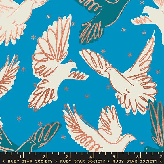 Rise Fly in Bright Blue RS0013 14M by Melody Miller - Ruby Star Society - Fat Quarter