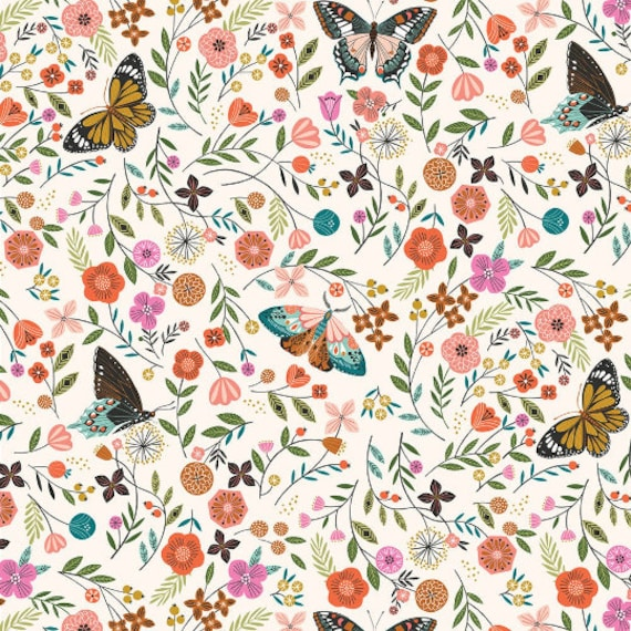 Aviary by Bethan Janine for Dashwood Studio - Fat Quarter of Butterfly Meadow