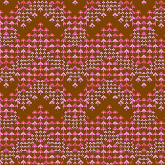 Amy Butler Soul Mate -- Fat Quarter of Prismatic in Cocoa