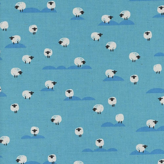 Panorama Collection by Melody Miller and Rashida Coleman Hale for Cotton and Steel - Fat Quarter of Sheep in Water