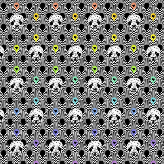 Fat Quarter Pandamonium in Ink - Tula Pink's Linework for Free Spirit Fabrics