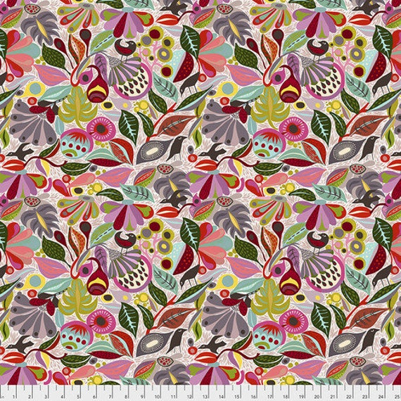 Shannon Newlin Vibrant Blooms -- Fat Quarter of In the Woods in Neutral