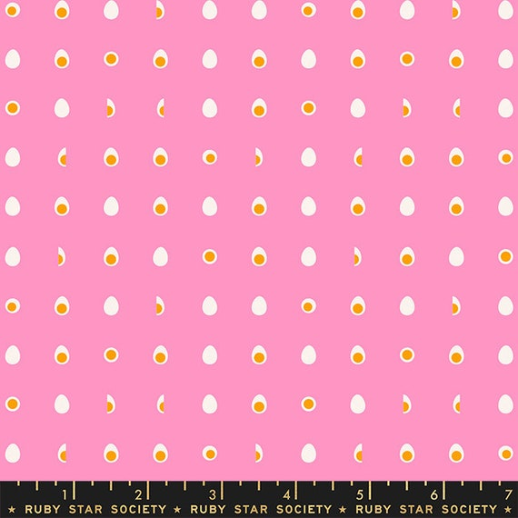 Food Group Hard Boiled Egg in Flamingo (RS5043 11) by Ruby Star Society -- Fat Quarter