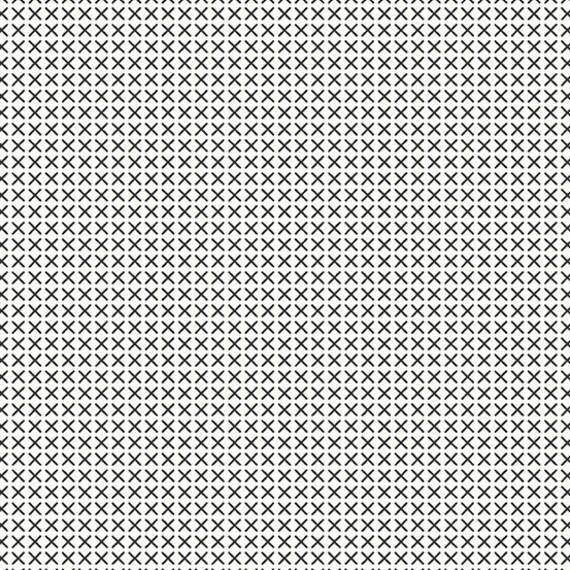 Cross Stitch by Alison Glass -- Fat quarter of Cross Stitch in Blanc A9254-L1