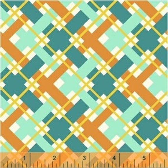 Hello Jane by Allison Harris for Windham Fabrics - Plaid In Orange - Fat Quarter