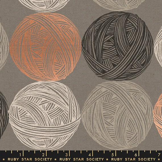 Purl Linen/Canvas in Grey (RS2039 14LM) by Sarah Watts - Ruby Star Society - 25cm Increment Cut