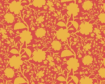 Fat Quarter Wildflower in Snapdragon - Tula Pink's True Colors for Free Spirit Fabrics