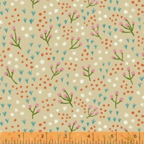 Meriwether by Amy Gibson for Windham Fabrics - High Meadow in Oatmeal - Fat Quarter